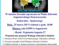 Walne Zebranie Augustowskiego Stowarzyszenia Kulturalno-Społecznego