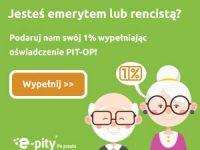 PIT-OP Oświadczenie o przekazaniu 1% podatku Organizacji Pożytku Publicznego (PIT-40A)