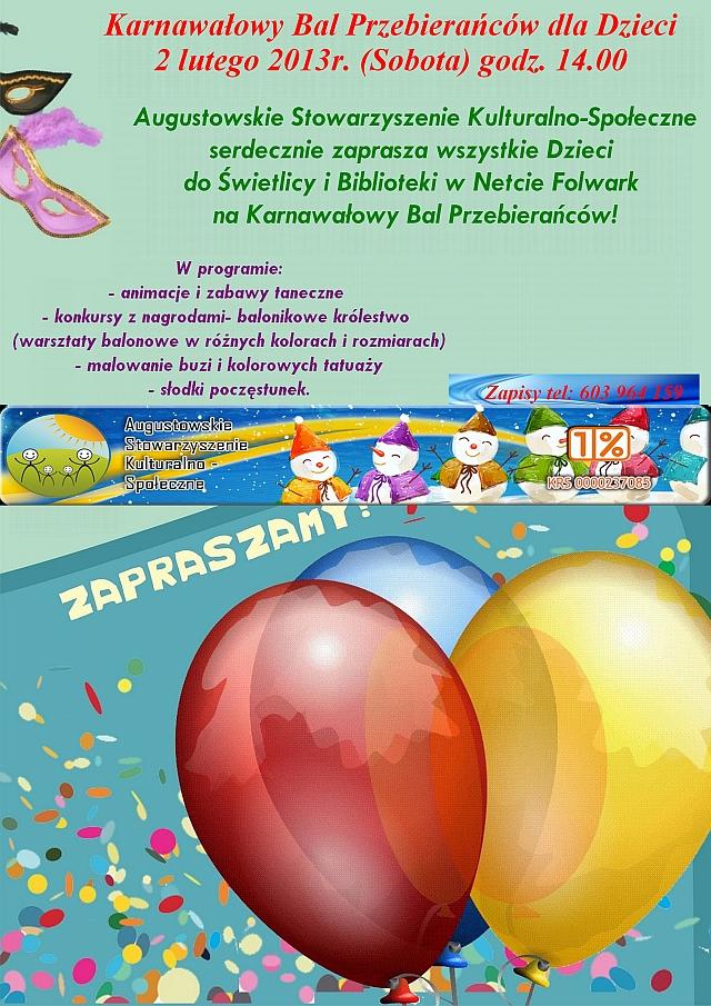 Zaproszenie Na Karnawałowy Bal Przebierańców Asks